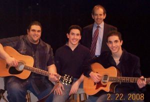 Clive Swersky with Joe, Nick and Anthony Melillo