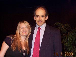 Kylie Edmond with Clive Swersky