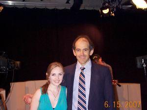 Cassandra Kubinski with Clive Swersky