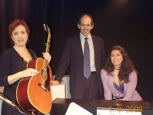 Janie Barnett, Clive Swersky and Allison Scola