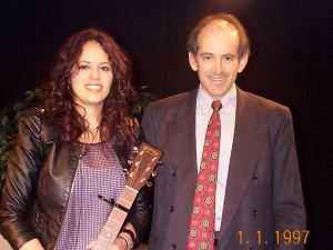 Lisa Bianco with Clive Swersky