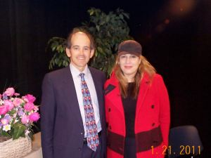 Clive Swersky, Host and Producer of Alive with Clive, with Natasha Alexandra (NLX) on the set of Alive with Clive