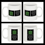 "The Set of 4 ""I'm Alive with Clive"" Mugs"