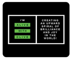 """The """"I'm Alive with Clive"""" Mouse Pad"""