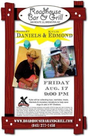 Flier for Show on 8/17/12 Featuring Robert Daniels & Kylie Edmond