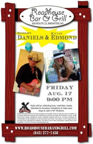 Flier for Show on 8/17/12 Featuring Robert Daniels & Kylie Edmond