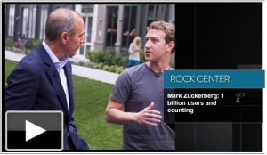 Matt Lauer & Mark Zuckerberg