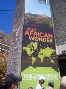 Banner of African Wonder, Table Mountain