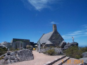 Building that houses the restaurant and souvenir shop on top of Table Mountain