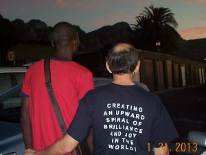 The picture of Clive Swersky with Junior Baraka, with our backs to you