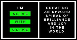 The Alive with Clive Logo and Slogan